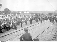 Opening the new railway at Willunga, South Australia.