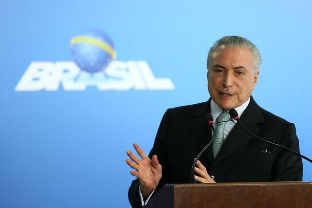 El presidente golpista Michel Temer fue grabado por los dueños de la empresa de carnes JBS - Créditos: Agência Brasil