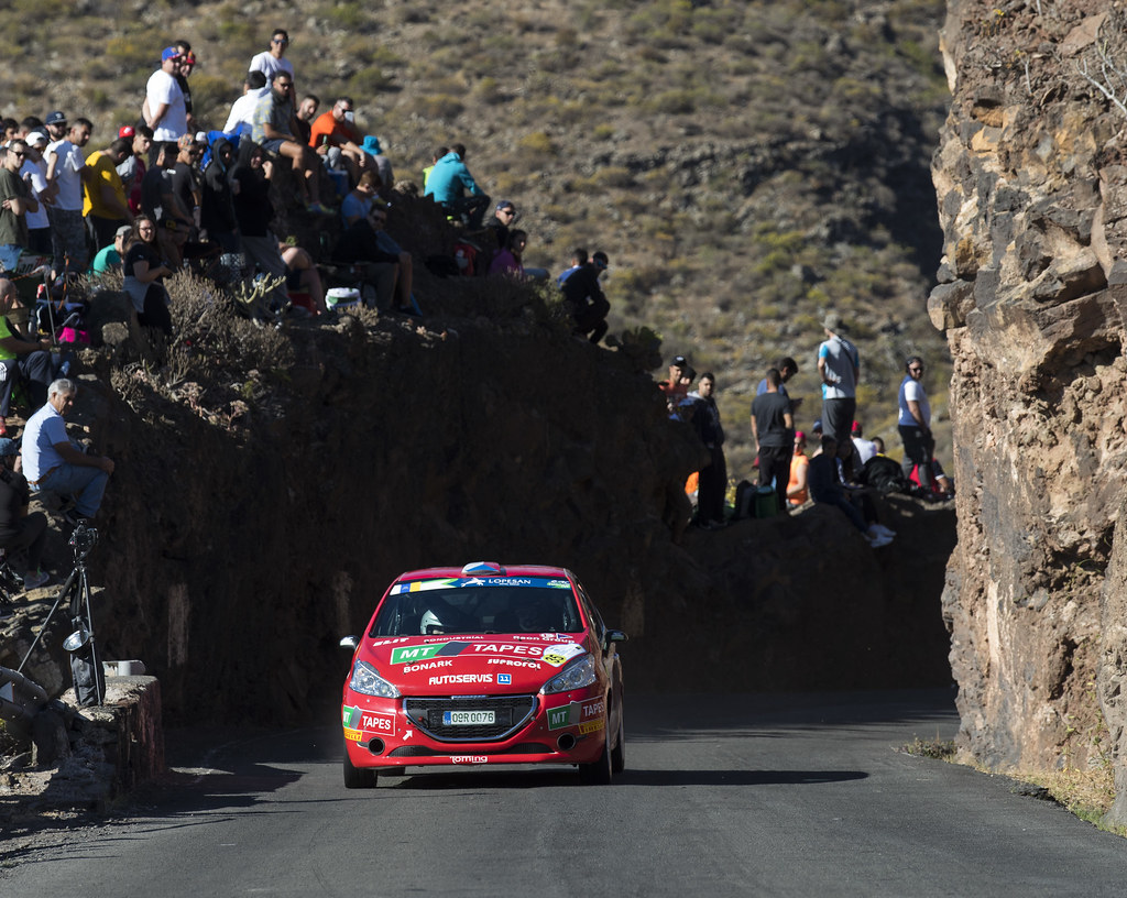 35 KUPEC Karel (CZE), KRAJCA Ondrej (CZE), Peugeot 208 R2, Action during the 2017 European Rally Championship ERC Rally Islas Canarias, El Corte Inglés,  from May 4 to 6, at Las Palmas, Spain - Photo Gregory Lenormand / DPPI