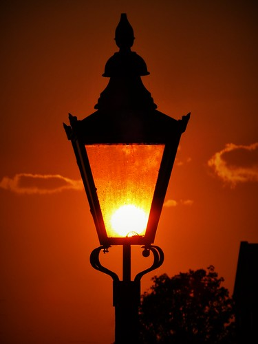 lamp sunset sun silhouette outdoor weather