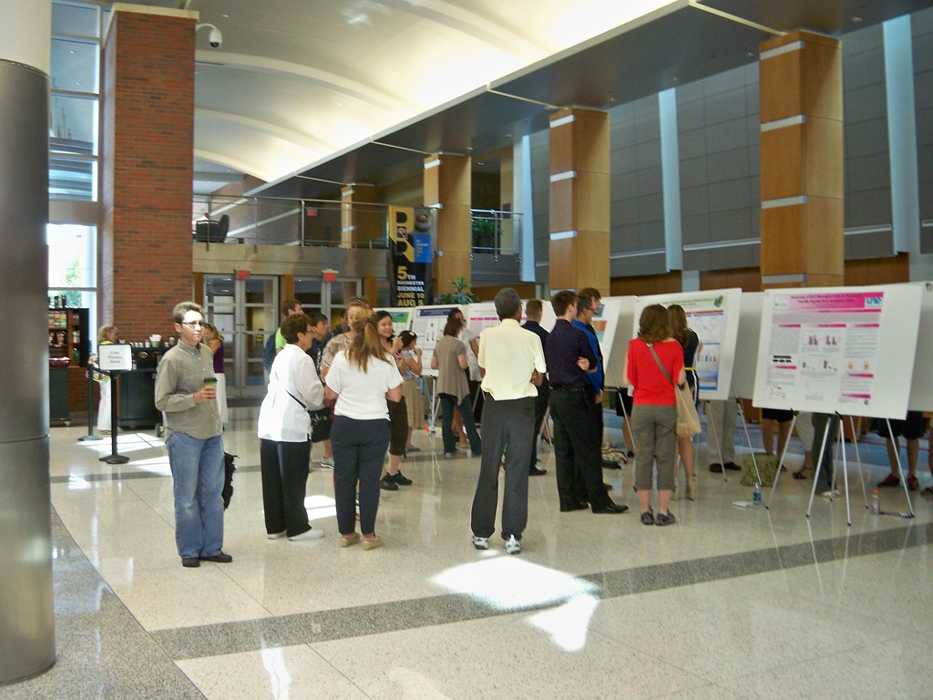 poster session held in flaum atrium