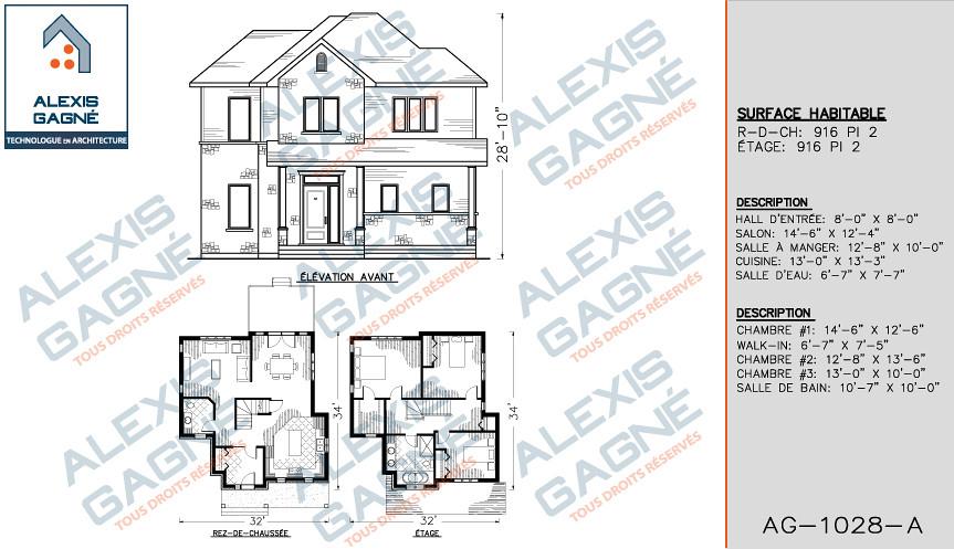 maison 2 etage sans garage victoriaville alexis gagn. Black Bedroom Furniture Sets. Home Design Ideas