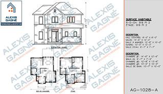 Plan de maison 2 étages - MM2e.03