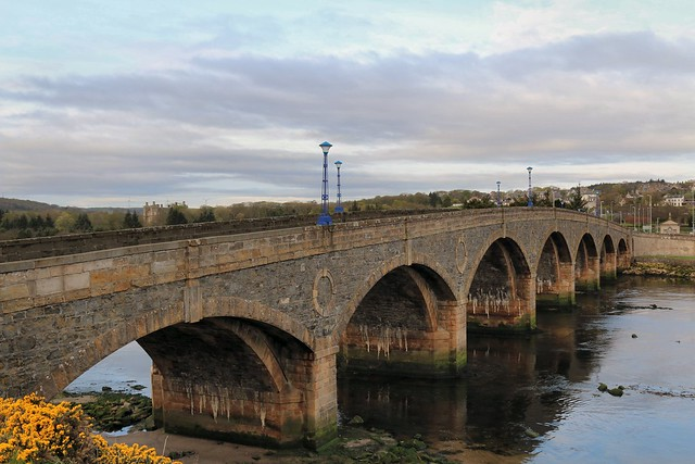 23rd April 2017. Bridge over the Deveron at Macduff, Banffshire, Scotland.