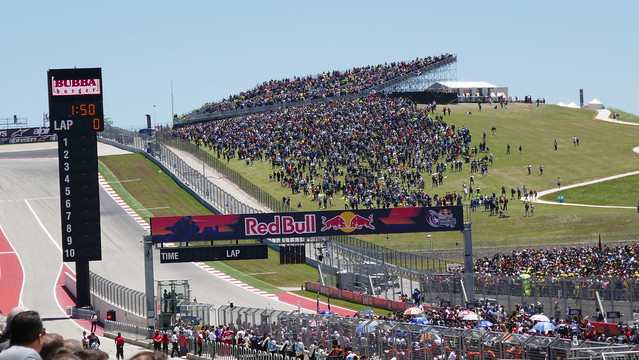 MotoGP start grid forms up