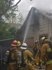 LAFD Prevents Fire From Extending to Nearby Homes in Valley Village