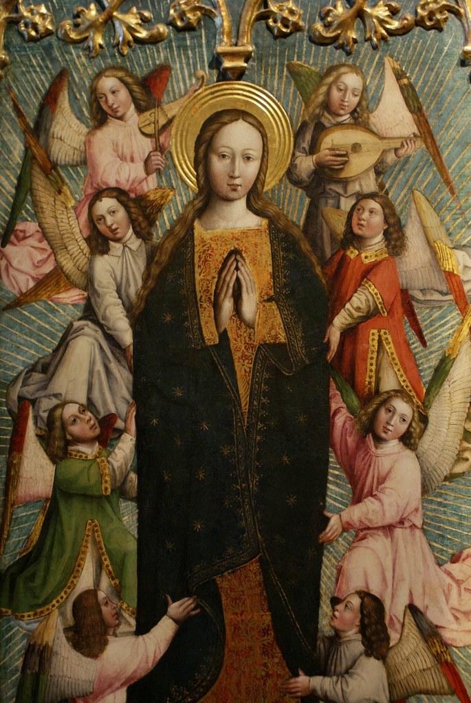 """""""Assomption de la Vierge et des saints"""" de Gandolfo da Roreto dans la galerie Saubada à Turin."""