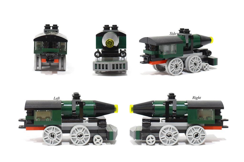 Lego 31054 2014 Creator 3 in 1 Emerald Express Steam Locomotive