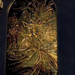 Los Angeles Ca ~ Millennium Biltmore Hotel Los Angeles ~  HIstoric Hotel ~ Bronze Bas Relief l