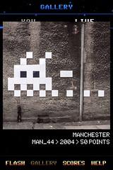 MAN_44 , Invader, Flash Invaders, street art Manchester