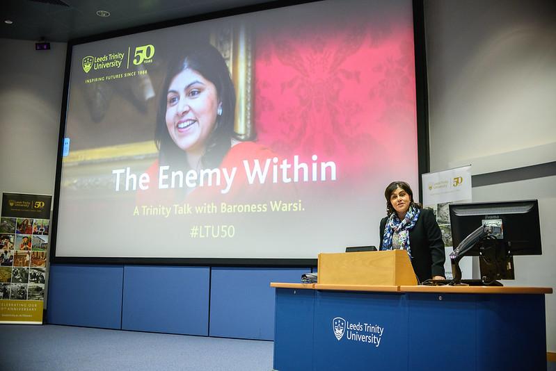 50th Anniversary Trinity Talk with Baroness Warsi