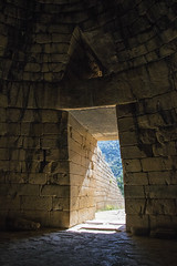 Treasury of Atreus Entrance from Inside