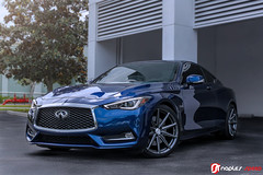 Infiniti Q60 Red Sport 400 On Vossen VFS-10