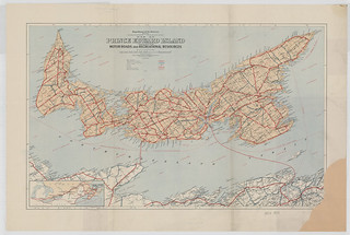 Map of Prince Edward Island indicating motor roads and recreational resources / Carte de l'Île-du-Prince-Édouard indiquant les routes et les sites récréatifs