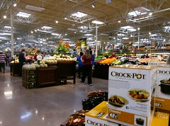 Opening day crowd in produce