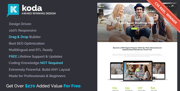 Koda v1.5.3 - Advanced Creative Multi-Purpose Theme for Beginners and Professionals