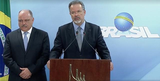O anúncio foi feito por volta das 16:30, direto do Palácio do Planalto - Créditos: Reprodução NBR