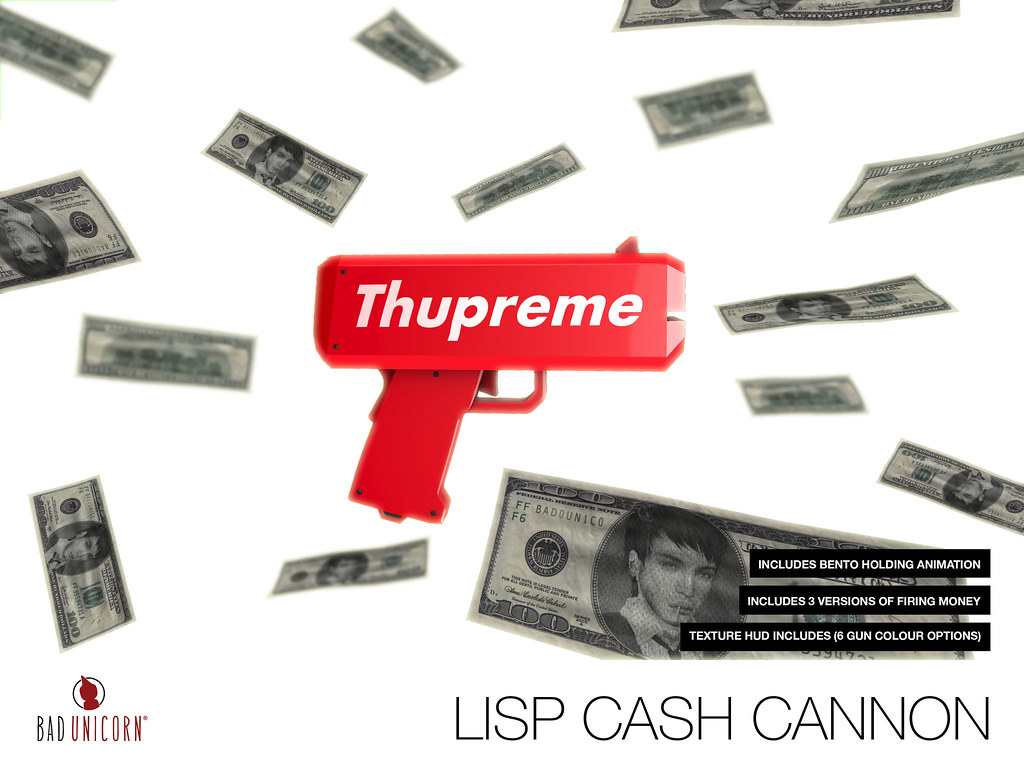OUT NOW! Lisp Cash Cannon @ TMD - SecondLifeHub.com