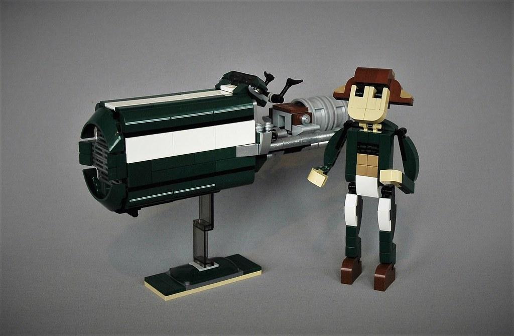 Lego 10242 remake – Rey's speeder version (custom built Lego model)