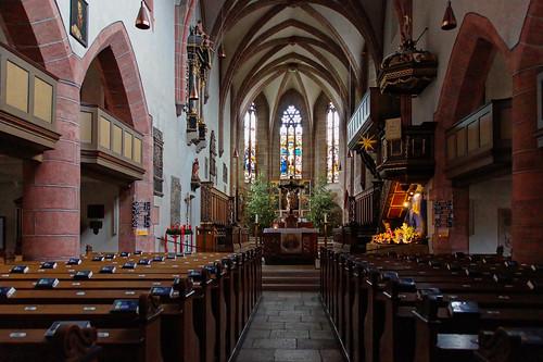 Interior of the Stiftskirche, Feuchtwangen