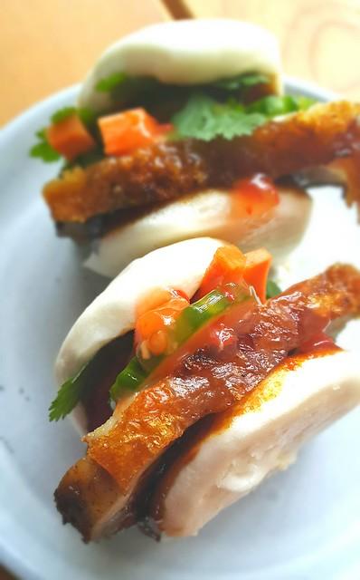 Roast pork. Bao. Crispy crackling