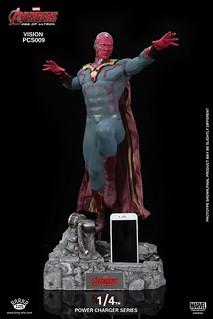 超帥氣充電雕像!! King Arts 「幻視」 Vision 1/4比例充電雕像作品