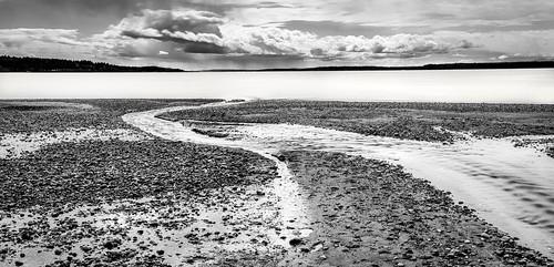 picnicpoint edmonds washington unitedstates us beach stream longexposure shoreline pugetsound stormclouds trinterphotos richtrinter