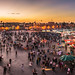 Sunset at Jemaa el-Fnaa by Ettore Trevisiol
