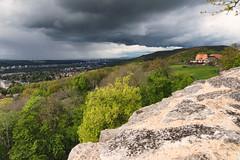 Ruine Dorneck - Basel im Regen