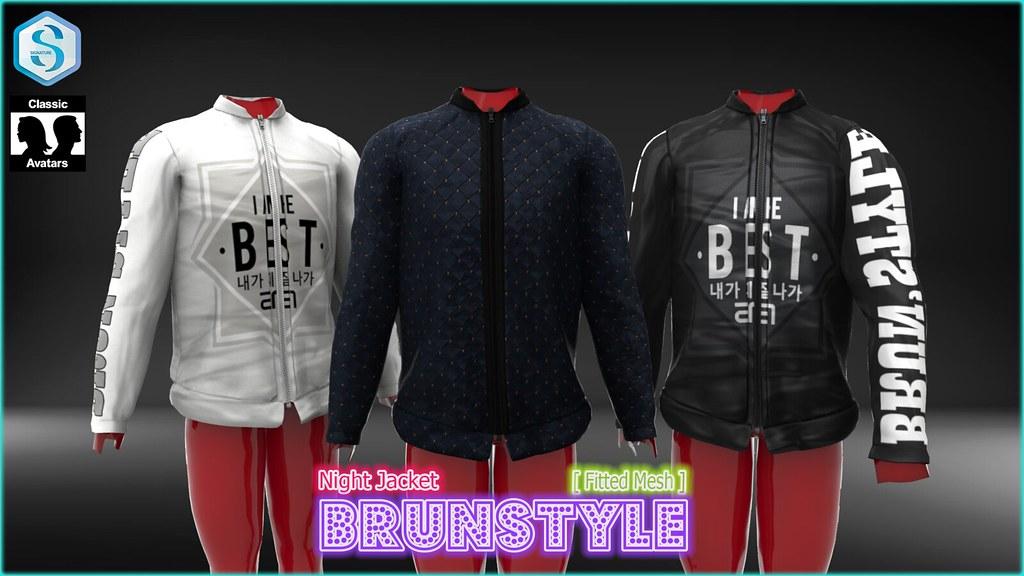 [BrunStyle] Night Jacket (Fitted Mesh) - SecondLifeHub.com