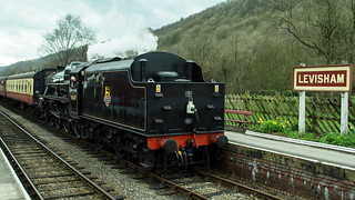 20170330-28_Black Five Engine 5MT 45407 + Train coming in to Levisham Station
