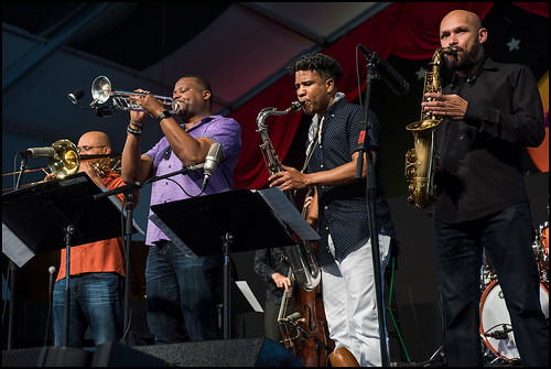 SF JAZZ Collective Plays the muisc of Miles Davis during Jazz Fest day 6 on May 6, 2017. Photo by Ryan Hodgson-Rigsbee www.rhrphoto.com