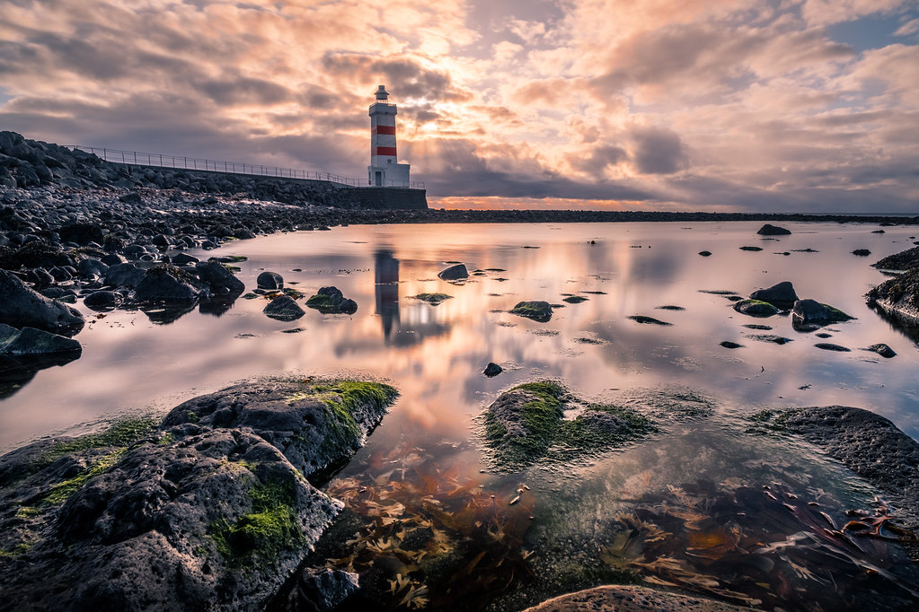 Gardur lighthouse, Iceland picture