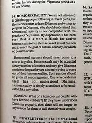 """S. N. Goenka on """"Homosexuality"""""""