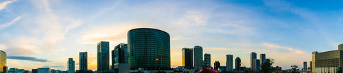 nikon d3000 minatomirai yokohama japan sunset skylines highrise sky clouds dusk evening