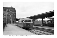 Cambrai. Railcar no. 201 for Marquion. 1.7.62 - Photo of Fontaine-Notre-Dame