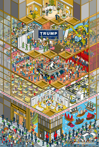 Doing Business in Trump's America: Business of Fashion - isometric Pixel Art Editorial Illustration