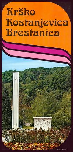 5828 pr krško kostanjevica brestanica tisak druck tiskara turistkomerc zagreb 1975