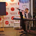 Fri, 05/05/2017 - 7:55pm - Dominique Ilie, 9, performs at the preview night for the Red Dot Auction. He's a student at Music Vault Academy in Laguna Niguel.