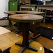 Small dark wood circular table E40