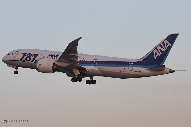 Boeing 787-8 Dreamliner – All Nippon Airways - ANA – JA822A – Brussels Airport (BRU EBBR) – 2017 06 18 – Takeoff RWY 07R – 01 – Copyright © 2017 Ivan Coninx