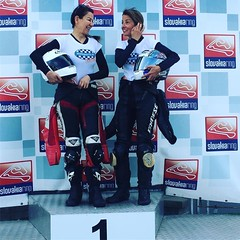 Ok so we finished 13th (alex) and 25th(me) out of 44 starters (9th and 10th our respective classes)....but I think we still deserve a podium so here we are :grimacing::grimacing::grimacing:#speedladies #slovakiaring
