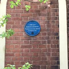 Photo of Franklin D. Roosevelt blue plaque