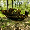 The abandoned half track that lives in the woods