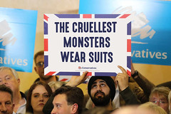The Cruellest Monsters Wear Suits - Conservatives campaign poster