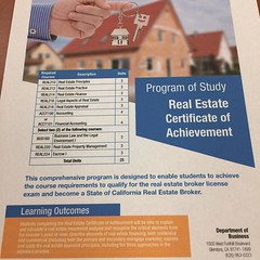 Citrus College Real Estate Department is now offering Certificate in real estate. Check out the club website for more information👍