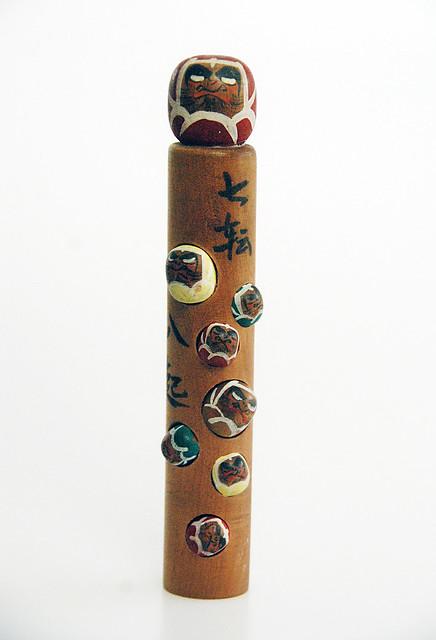 Japan - Bodhidharma Creative Artistic Inspirational DARUMA Japanese Wooden KOKESHI Doll