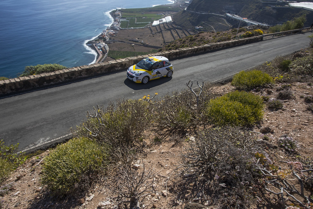 27 INGRAM Chris (GBR), EDMONDSON Elliot (GBR), Opel Adam R2, Action during the 2017 European Rally Championship ERC Rally Islas Canarias, El Corte Inglés,  from May 4 to 6, at Las Palmas, Spain - Photo Gregory Lenormand / DPPI