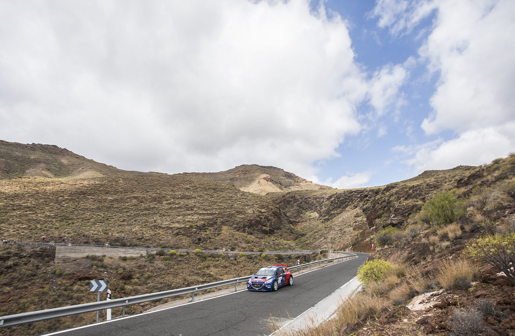 03 LOPEZ Jose Maria (ESP) HERNANDEZ Borja Peugeot 208 T16 Action during the 2017 European Rally Championship ERC Rally Islas Canarias, El Corte Inglés,  from May 4 to 6, at Las Palmas, Spain - Photo Gregory Lenormand / DPPI