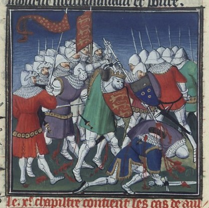 Battle of Tinchebray in medieval picture, Bibliothèque nationale de France